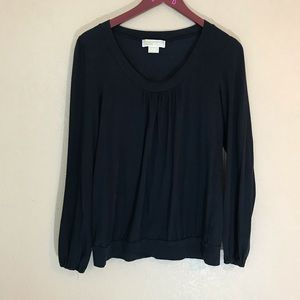 Michael Kors black long sleeved blouse classic med